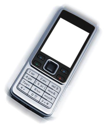 vibrating: Vibrating cellphone on white background