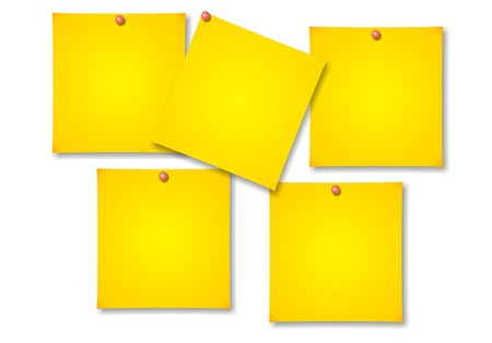 Post-it notes on white background vector
