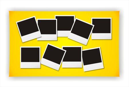 capturing: Blank photos Stock Photo