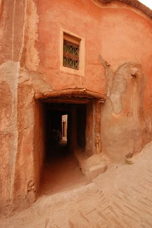 Old building in Tafraout, Morocco photo