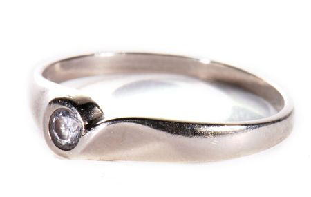 tokens: White gold ring in close-up