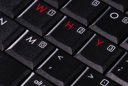 WHY letters on a computer keyboard Stock Photo - 2511690