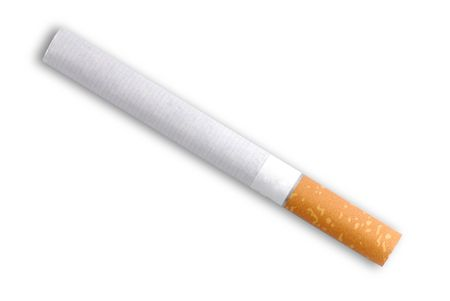 fag: A cigarette isolated on white background