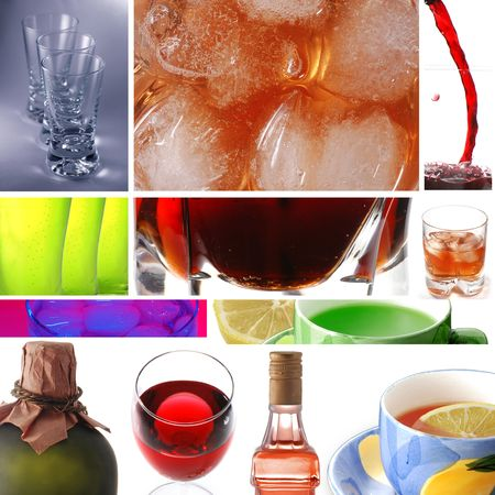Collage of drinks