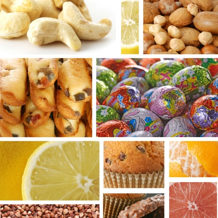 Collage of delicious food photo