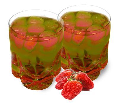 Fruit drink isolated on white background photo
