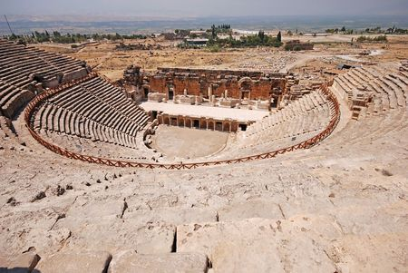 teatro antico: Antico teatro in Pamukkale, Turchia
