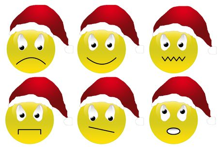 Christmas smileys set photo