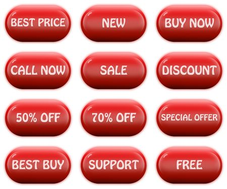 Glossy web buttons set Stock Photo - 3798978
