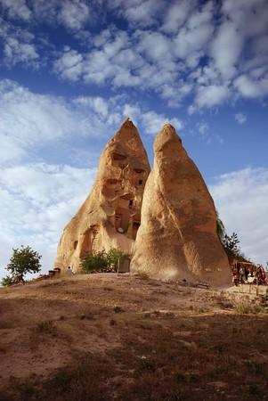 dwelling mound: Cappadocian landscape, Turkey Stock Photo