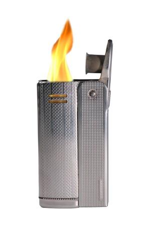 Burning cigarette lighter isolated on white background Stock Photo - 4300738