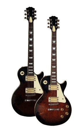 Two electric guitars isolated on white background Stock Photo - 4421470