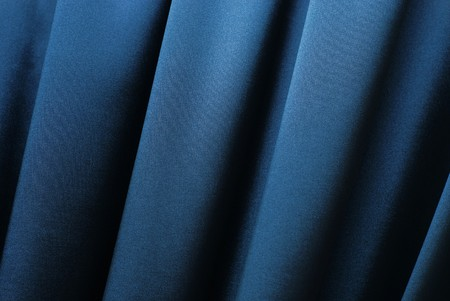 Blue curtain background Stock Photo - 4421481