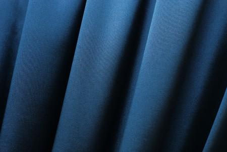 Blue curtain background Stock Photo - 4421481