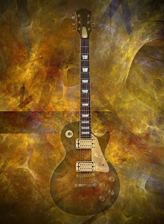lead guitar: Electric guitar on flaming background