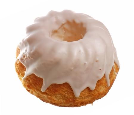 Delicious cake isolated on white background photo