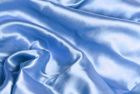 Blue satin background Stock Photo - 4620547