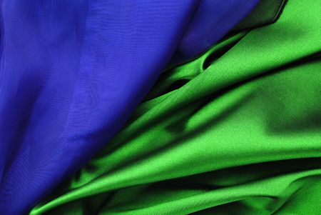 Blue and green curtain background Stock Photo - 4684101
