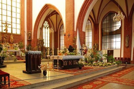 wroclaw: St Elizabeth Church interior in Wroclaw, Poland