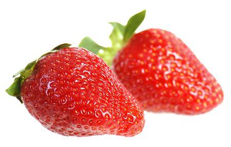 Strawberries isolated on white background photo