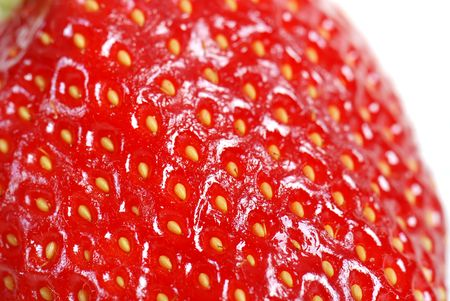 Strawberry in closeup photo
