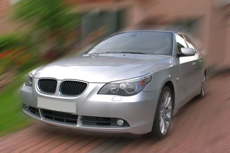 A car driving at high speed Stock Photo - 4914834