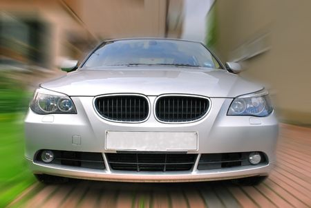 A car driving at high speed Stock Photo - 4914835