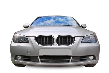 front bumper: A car isolated on white background Stock Photo