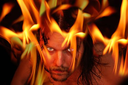 possessed: Flaming demon - halloween theme