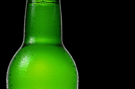 A bottle of beer in close-up photo