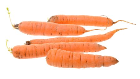 Carrots isolated on white background Stock Photo - 5916266