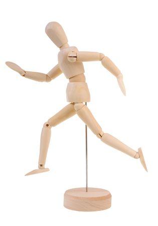 manequin: Running wooden manequin