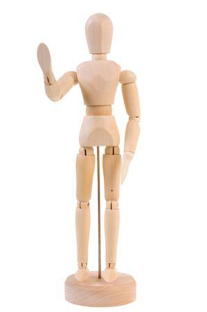 manequin: Welcoming wooden manequin