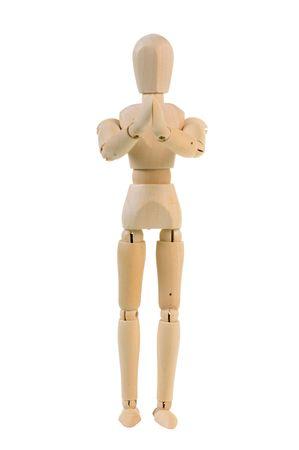 manequin: Begging wooden manequin