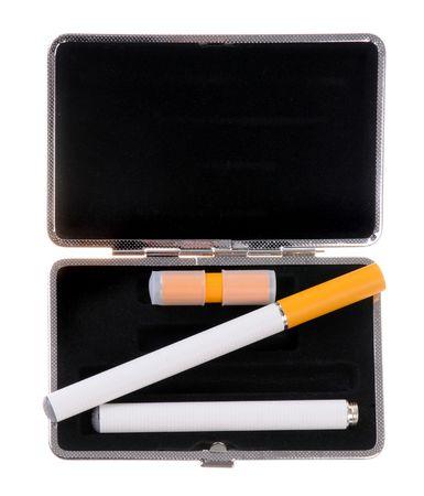 Electronic cigarette in a case photo