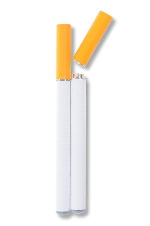 atomiser: Electronic cigarette isolated on white background Stock Photo