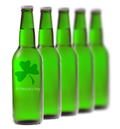 Green beer for St Patricks Day Stock Photo