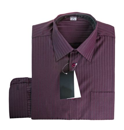 Purple cotton shirt isolated on white background photo