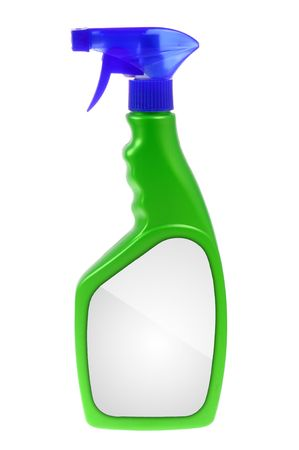 Cleaning spray isolated on white background photo