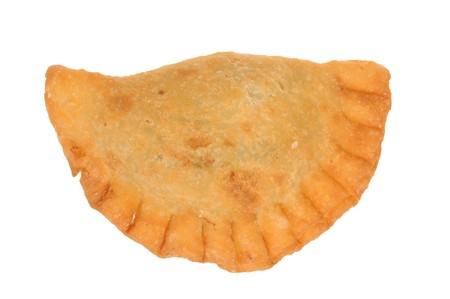 Delicious dumpling isolated on white background photo