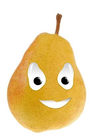 Happy food series - pear Stock Photo - 7298939