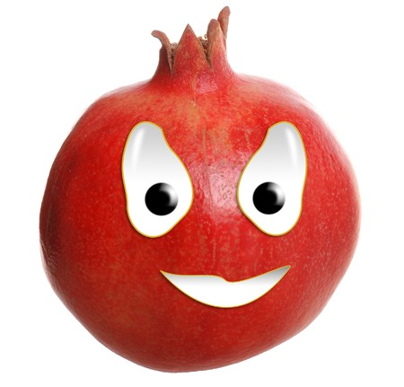 Happy food series - pomegranate Stock Photo - 7298936