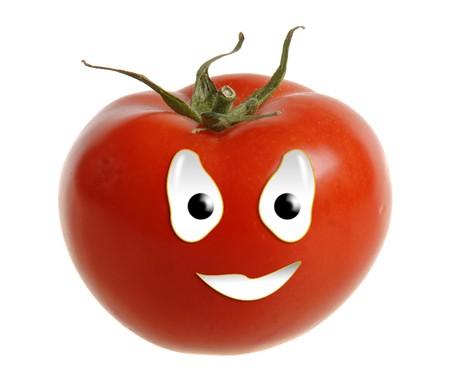 Happy food series - tomato Stock Photo
