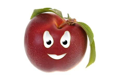 nectarine: Happy food series - nectarine Stock Photo