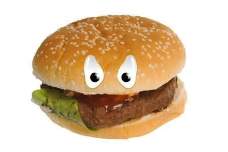 Happy food series - hamburger photo