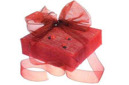 Beautiful gift box isolated on white background Stock Photo - 7667831