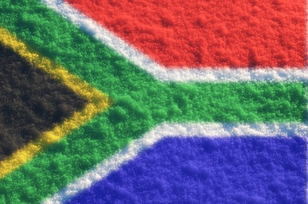 Fuzzy flags series - South Africa photo