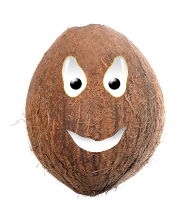 shell: Happy food series - coconut Stock Photo