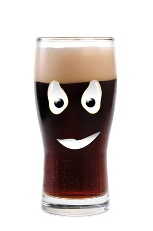 dark lager: Happy food series Stock Photo