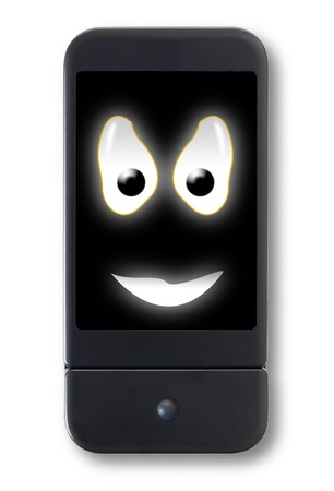Happy cell phone smiley photo